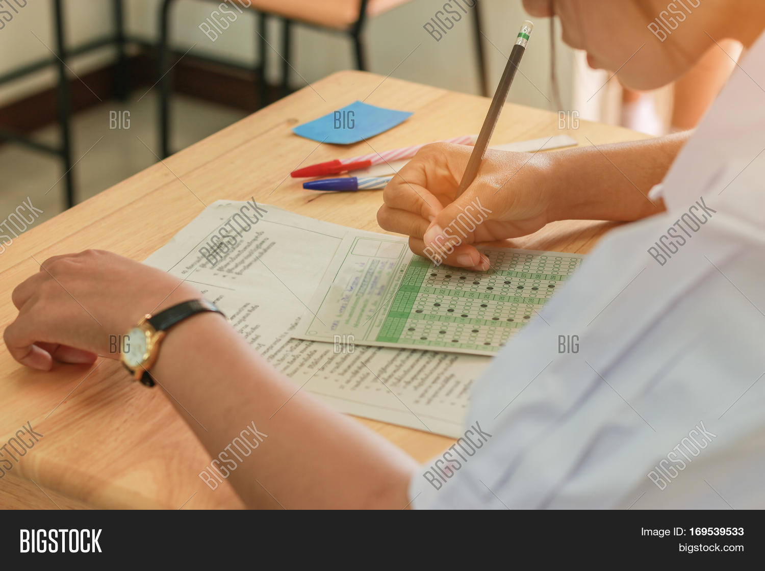 Students Writing Test Image Amp Photo Free Trial
