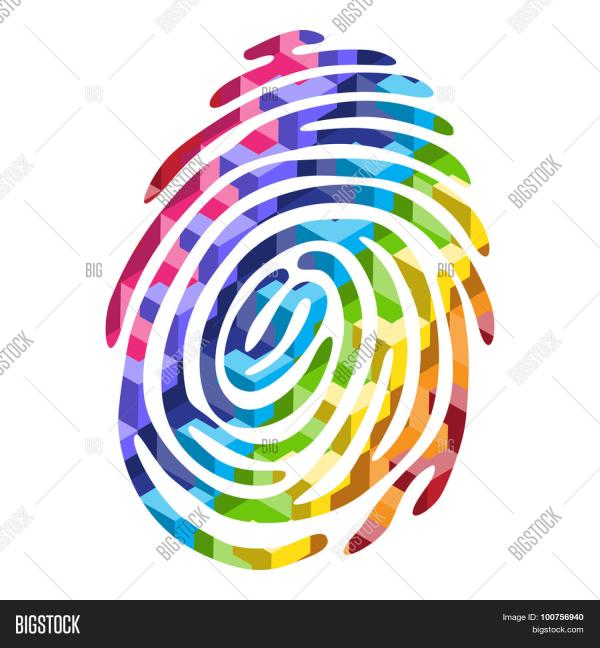 Abstract Color Finger Print. Vector & Photo | Bigstock