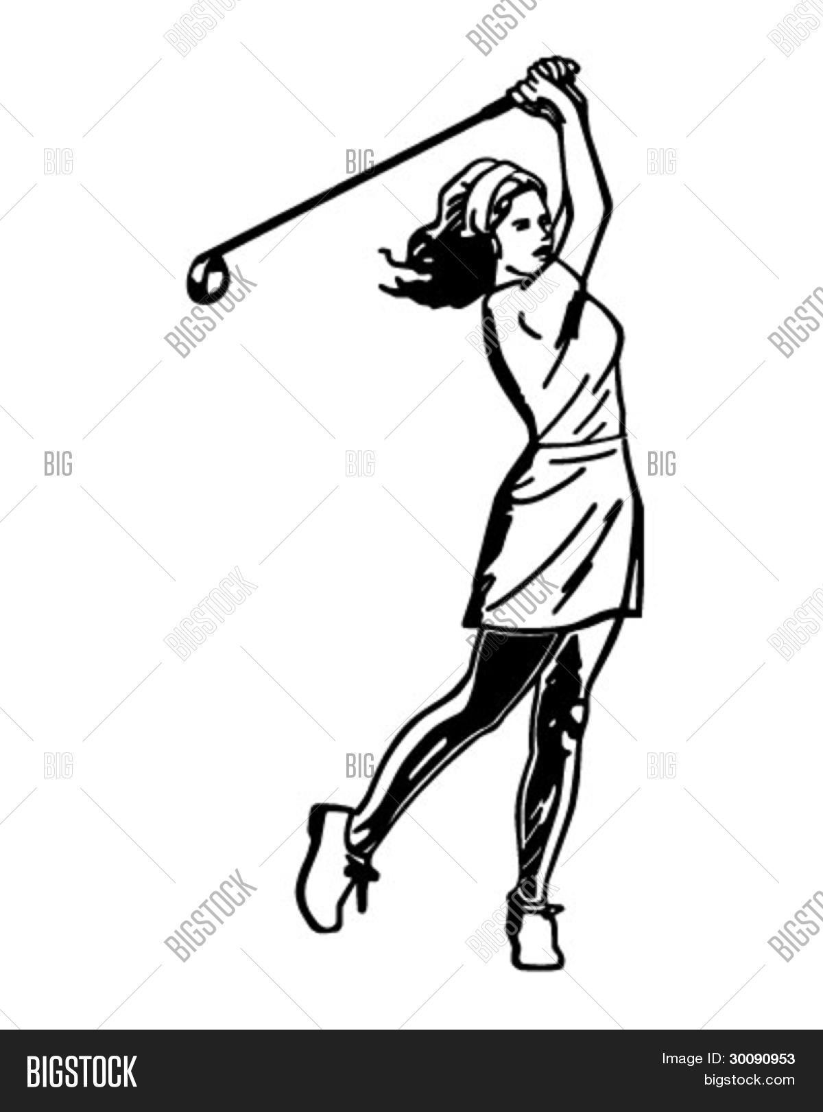 Vectores Y Fotos En Stock De Mujer Golfista 3