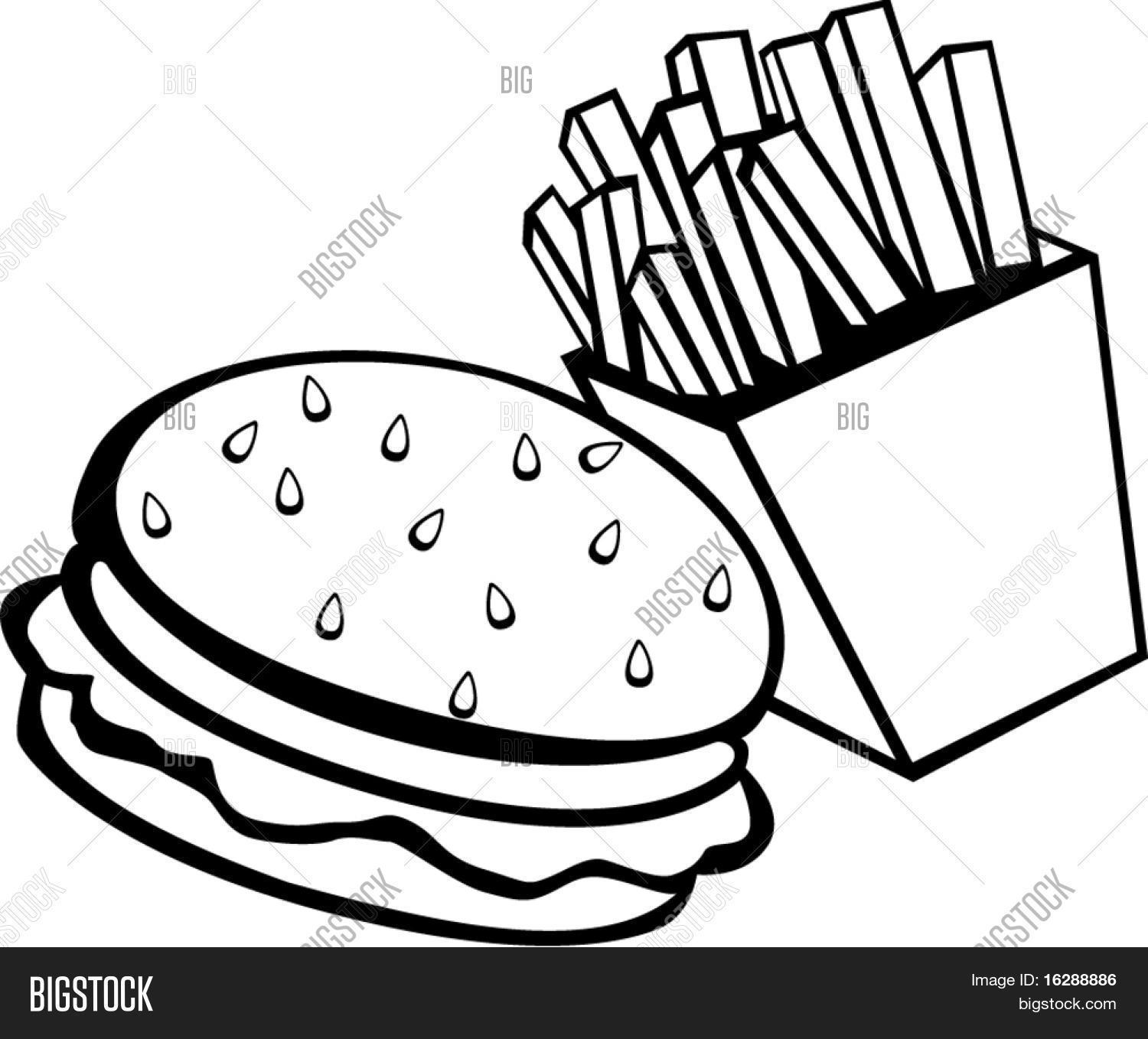 Burger And Fries Stock Vector Amp Stock Photos