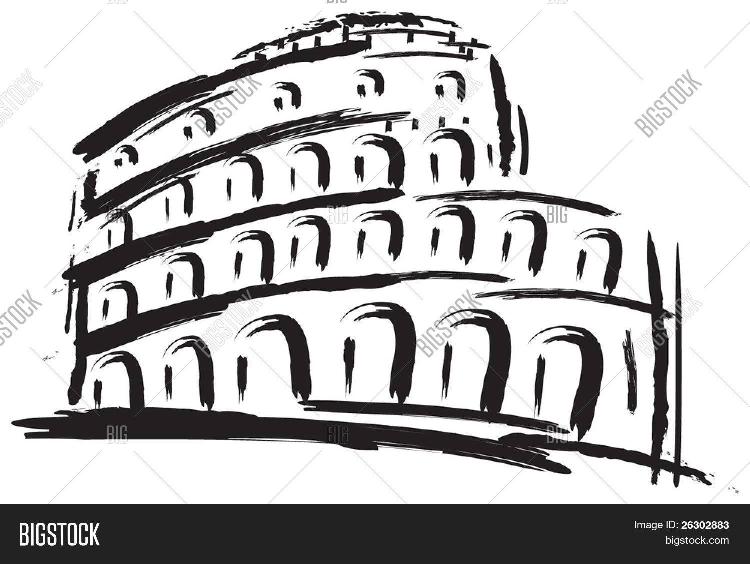 Colosseum Vector Illustration Vector Amp Photo