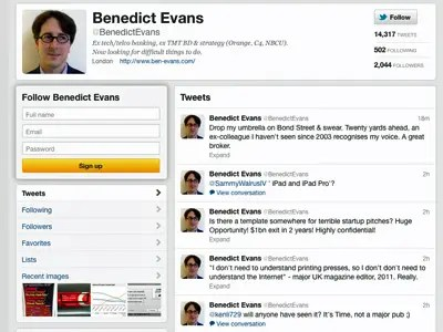 Benedict Evans is another smart person with insights on Twitter