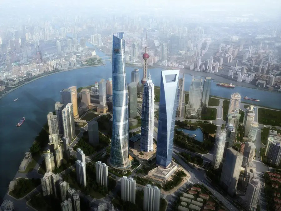#3 Shanghai Tower — Shanghai, China. Height (when completed): 2,073.87 feet