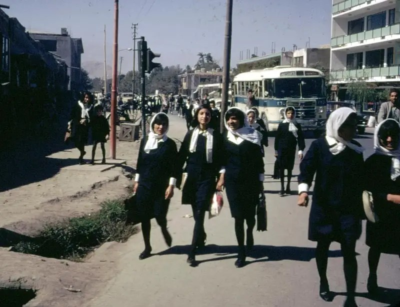 Girls and boys in western style universities and schools were encouraged to talk to each other freely.