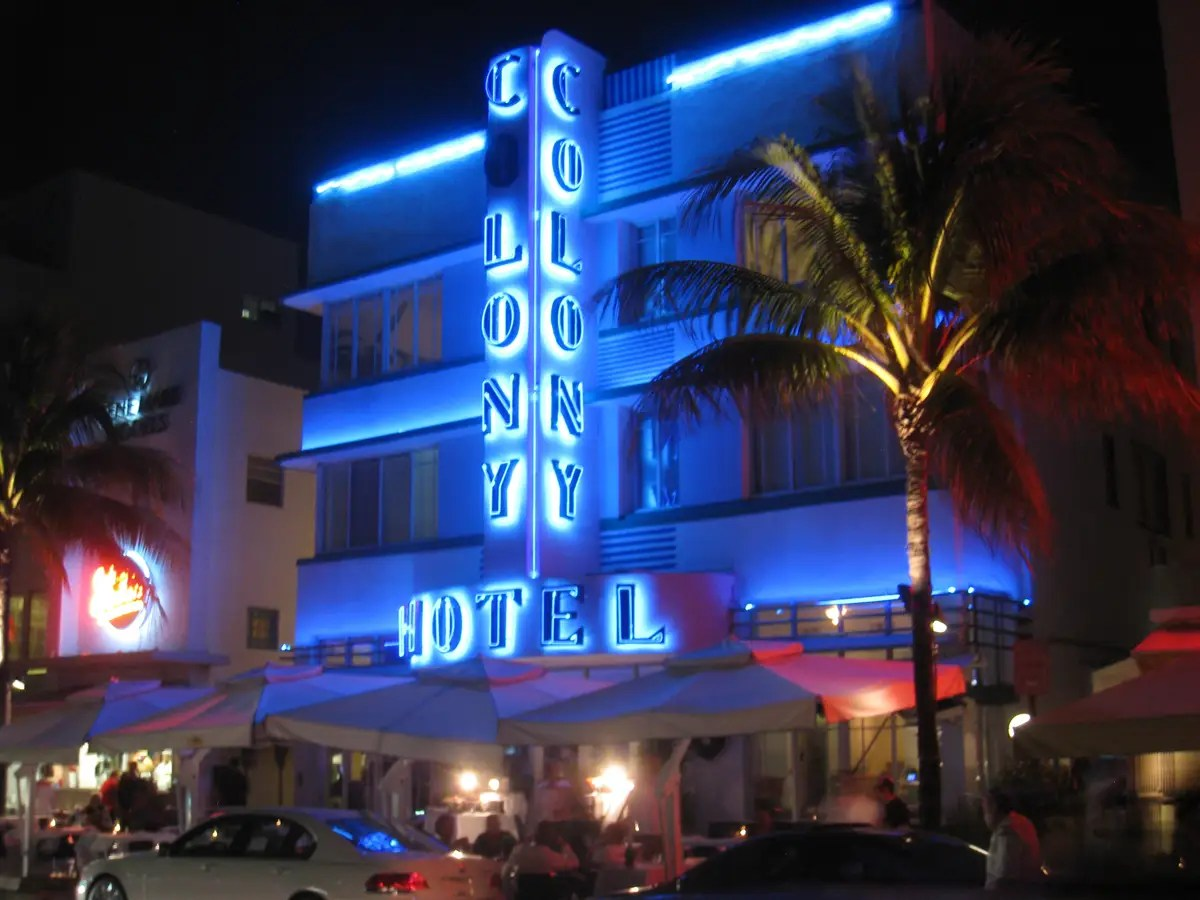 Check out the Art Deco architecture in South Beach, Miami.