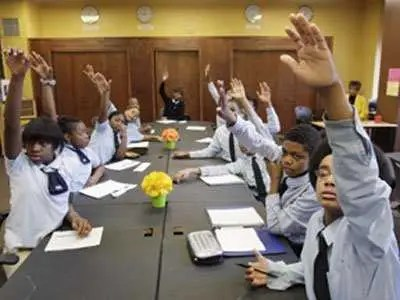 Teachers answer boys when they call out, but scold girls who call out, and tell them to raise their hands.