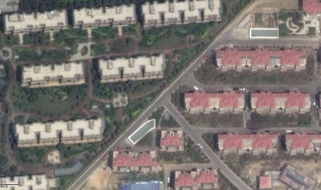 Nearby are housing developments with few signs of habitation.
