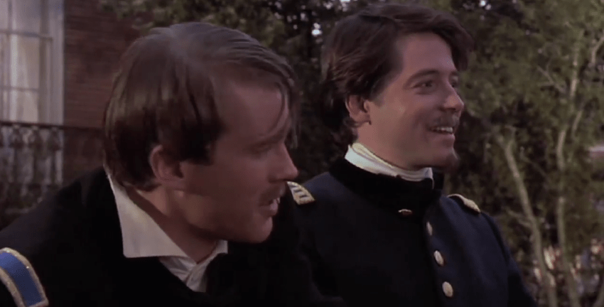 """Glory"" (1989): Colonel Robert Gould Shaw (Matthew Broderick) leads the all-black 54th Regiment of the Massachusetts Volunteer Infantry during the Civil War."