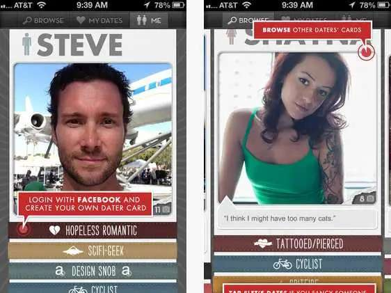 Let's Date helps you find people with similar interests nearby.