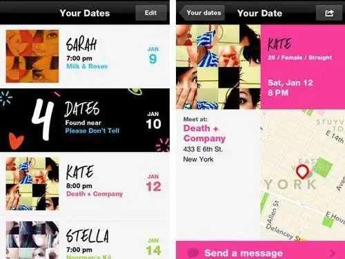 OkCupid's CrazyBlindDate sets you up on blind dates.