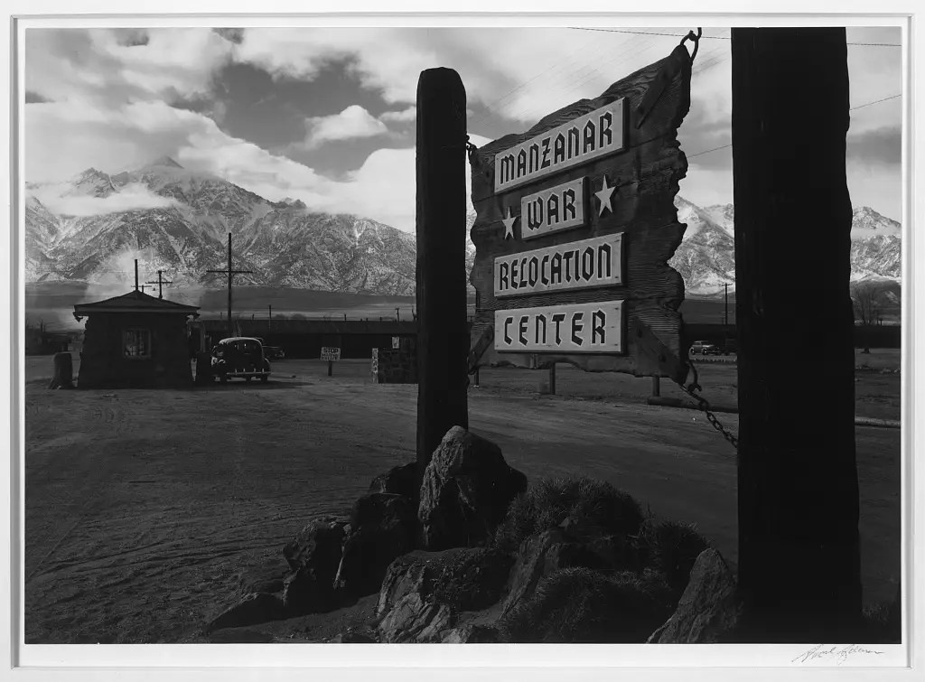 Manzanar was one of 10 sites where about 110,000 Japanese Americans were forced to live.