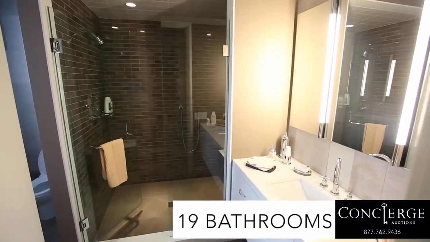 And 19 bathrooms.