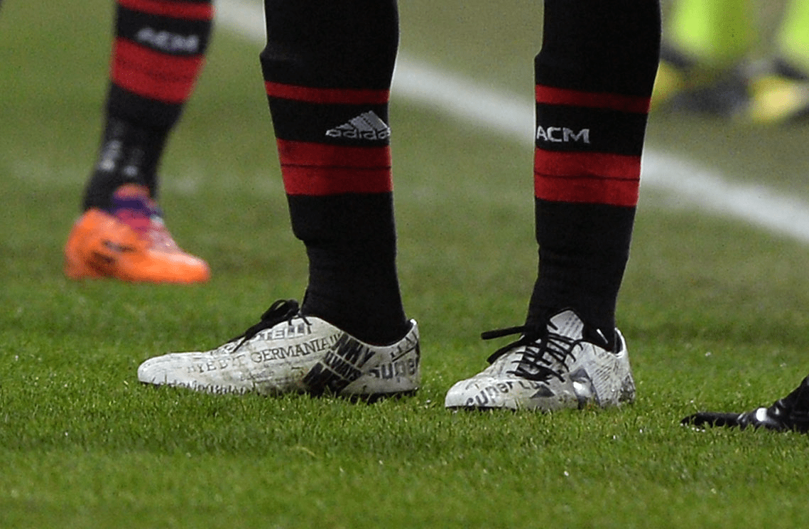He wore cleats covered in his own newspaper headlines when Nike, Adidas, and Puma were all bidding for his signature in 2013.