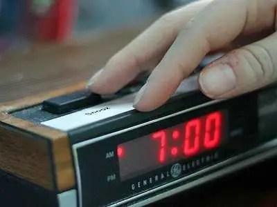 alarm clock, morning, snooze button