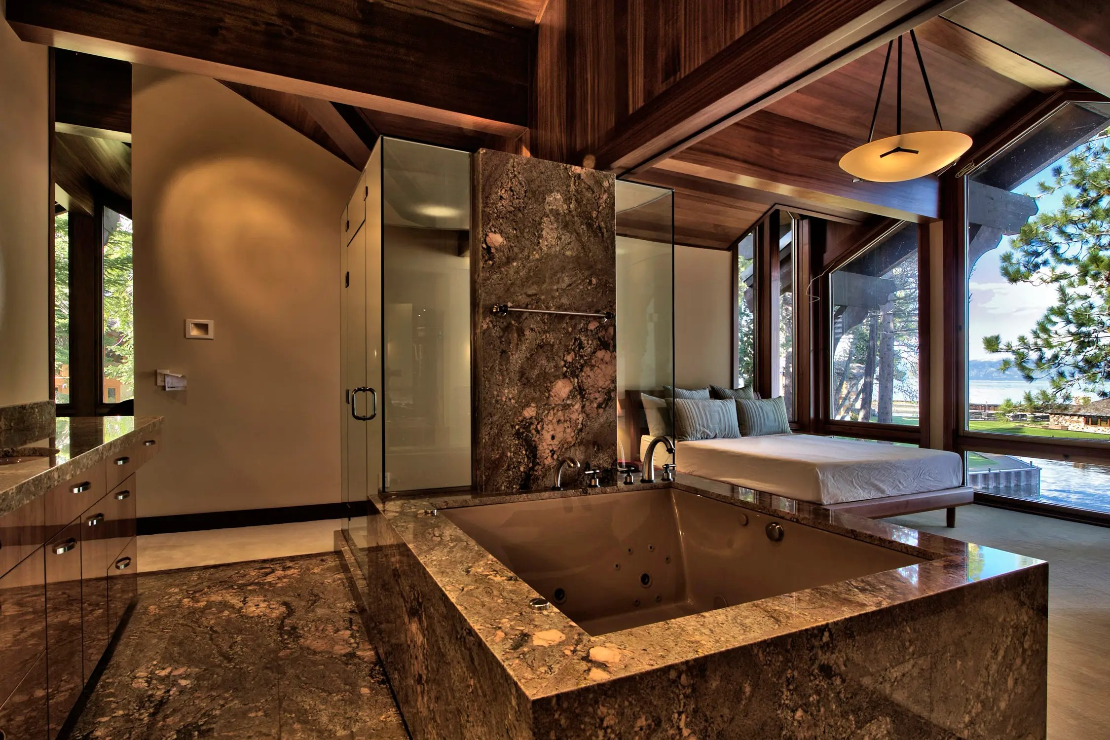 "Here is another view of the master ""spa bedroom,"" which is one of the home's 5 bathrooms."
