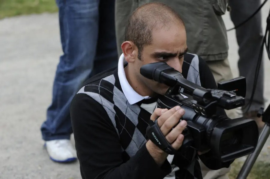 Guy with video camera