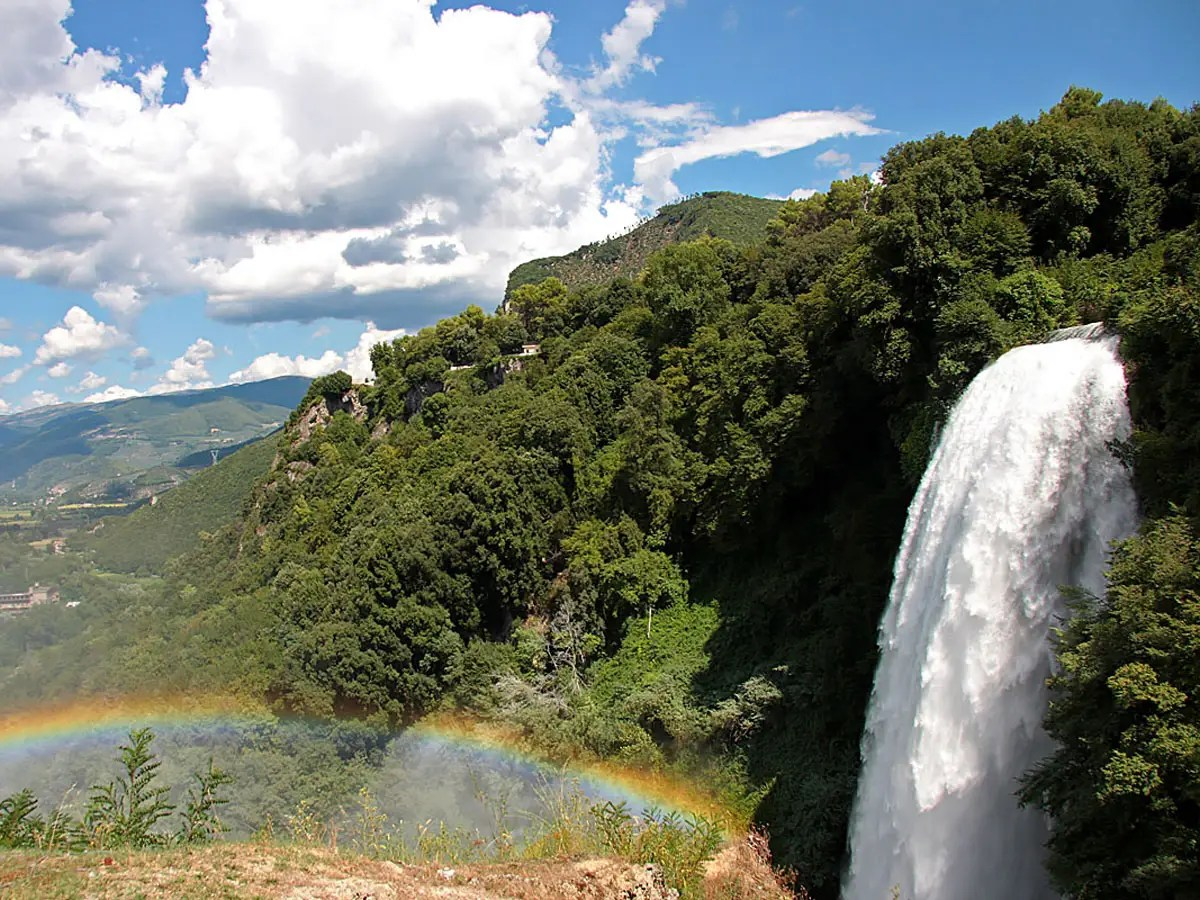 Explore Cascata delle Marmore, a massive, man-made waterfall dating back to the ancient Romans.