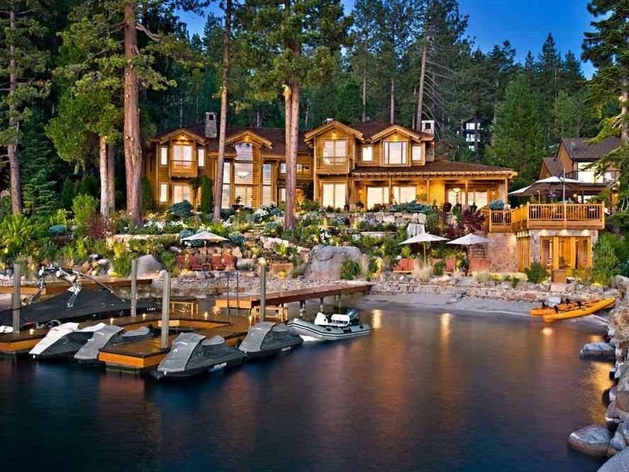 The 2.62-acre property is located in Glenbrook, a private neighborhood on the eastern shores of Lake Tahoe.