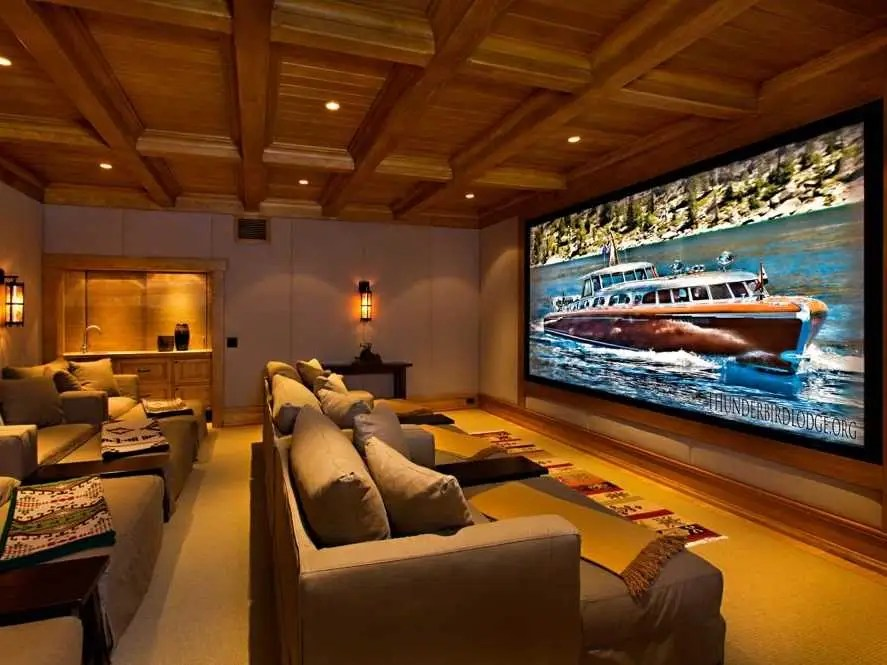And this soundproofed media room will make for some epic movie nights.