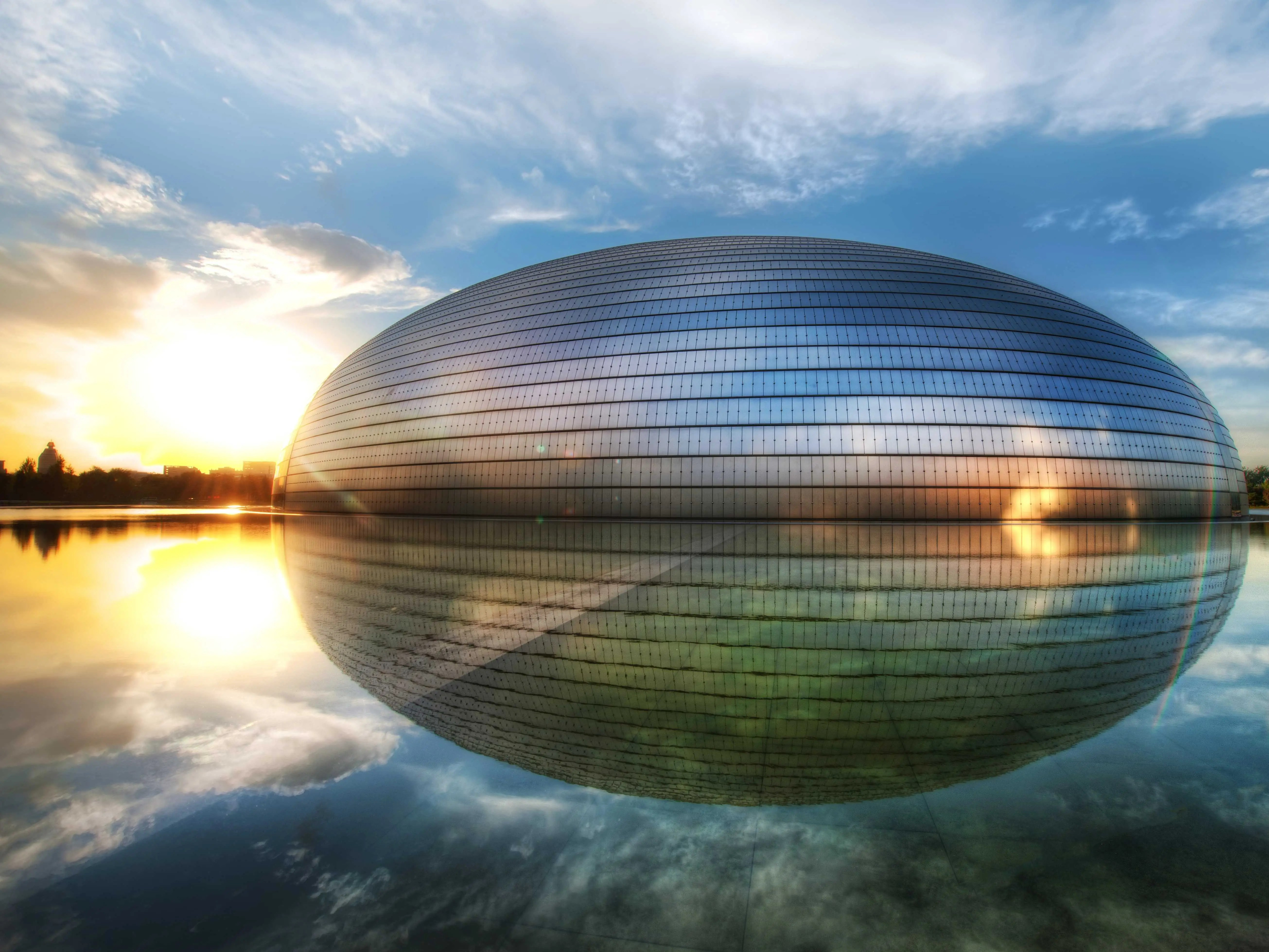 You can see why the National Center for the Performing Arts in Beijing gets its nickname, 'The Egg.'