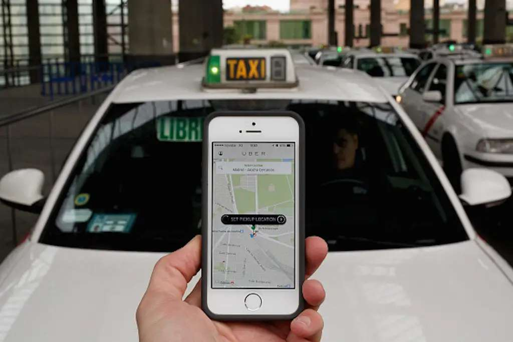 Uber lets you request your own personal taxi with the push of a button.