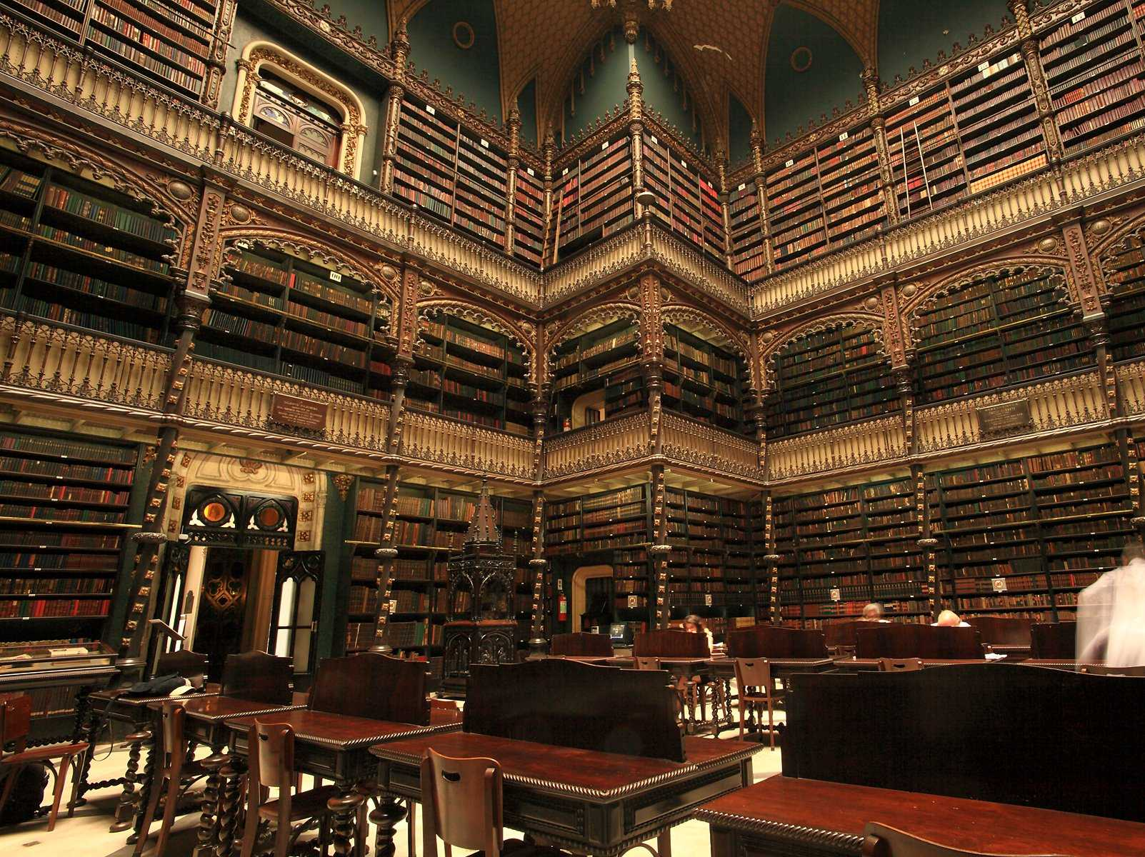 Although the Royal Portuguese Reading Room in Rio de Janeiro, Brazil, was built in the 19th century, it houses literature dating all the way back to the 16th century. The library's collection of Portuguese books is the largest collection outside of Portugal.