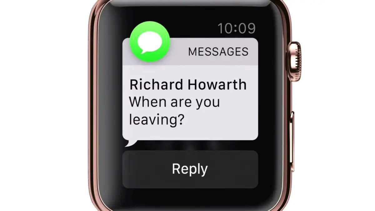 You can view incoming text messages on your wrist.