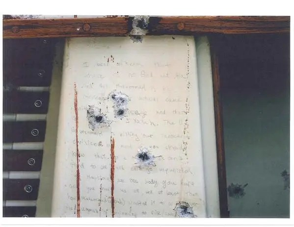 Tsarnaev boat note