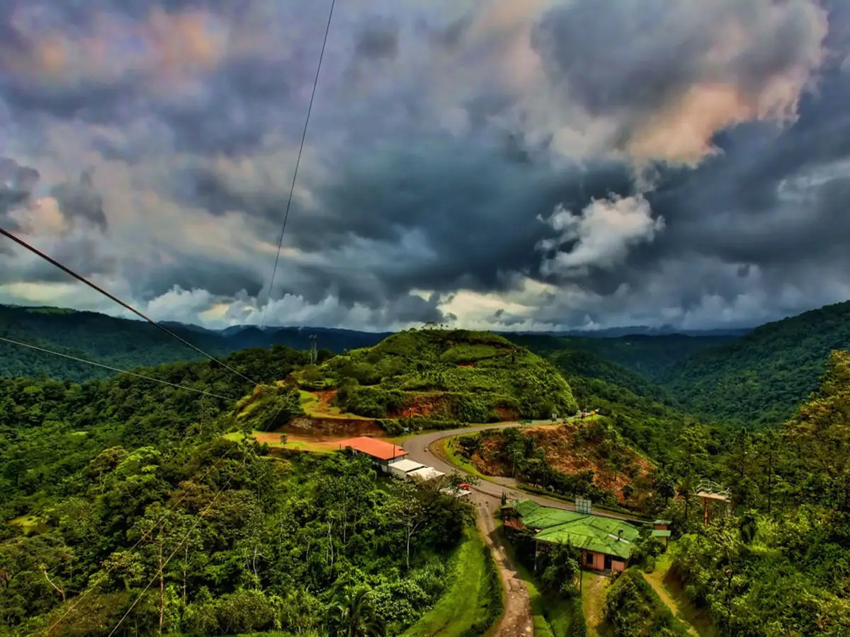 Zipline above Costa Rica's lush rain forests.