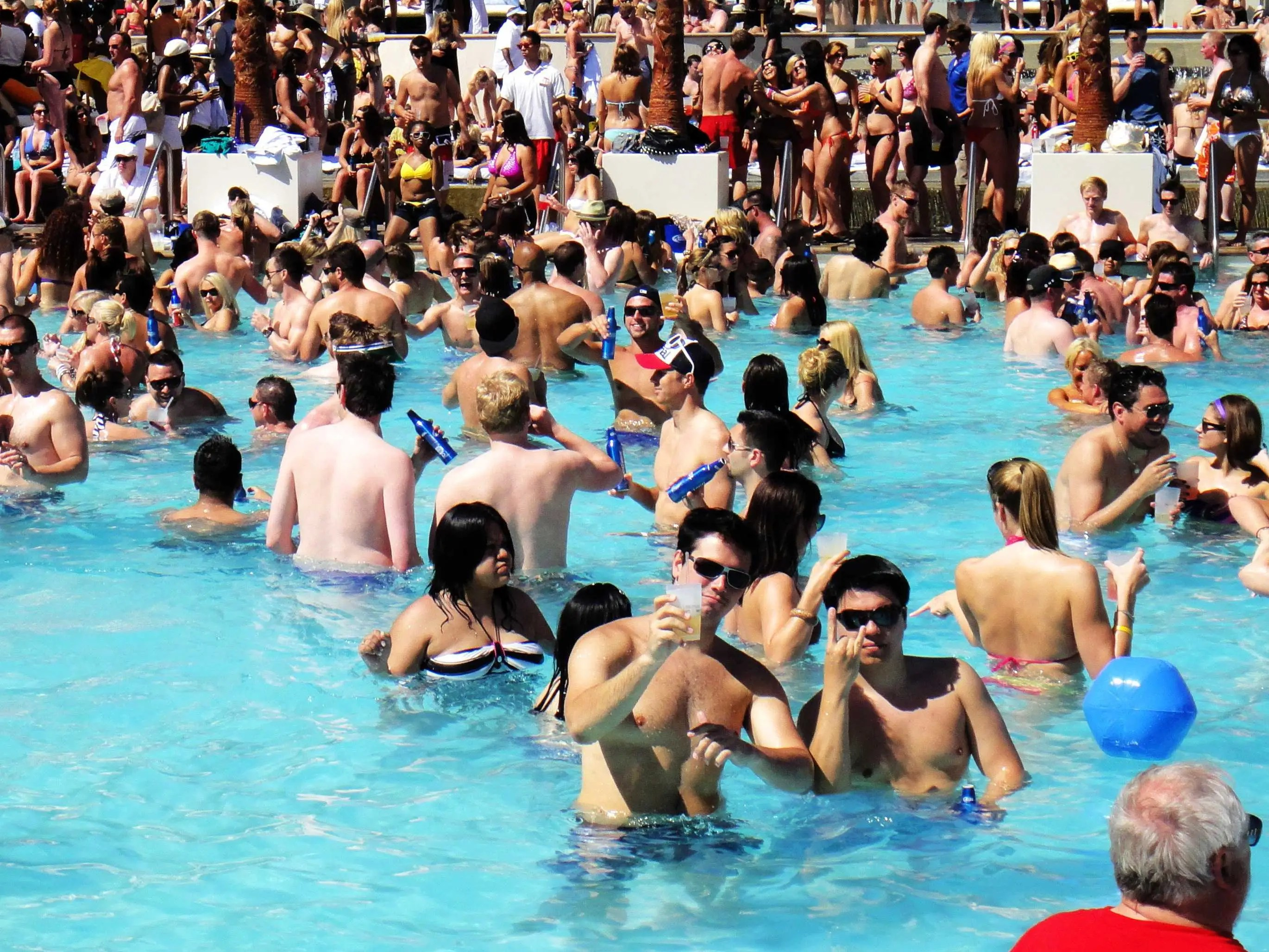 Get wet and wild at a pool party in Las Vegas, Nevada.