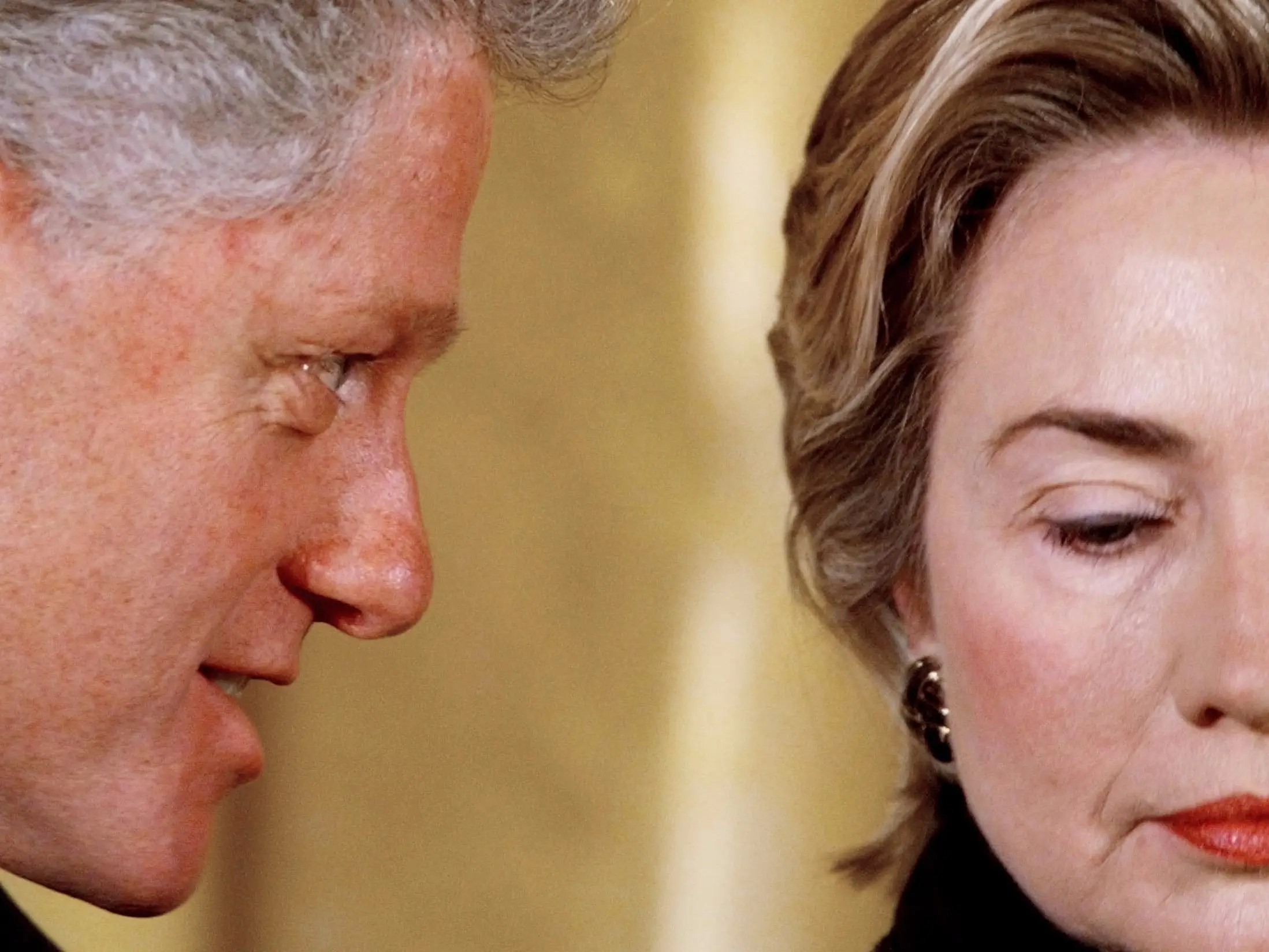 Controversy rocked the White House when Bill Clinton, two years into his second term, admitted to having an affair with an intern. Hillary Clinton stuck by him, shocking some feminists and contributing to the survival of her husband's presidency.