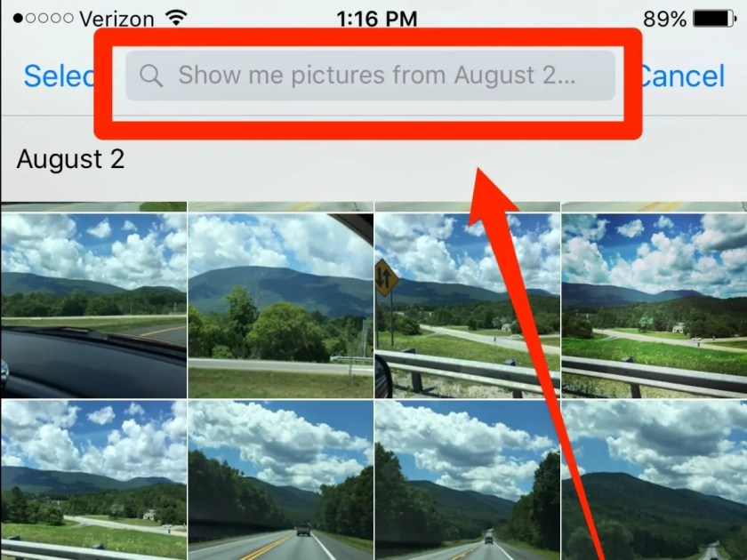 Use Siri to skip filter photos on your iPhone by date or location.