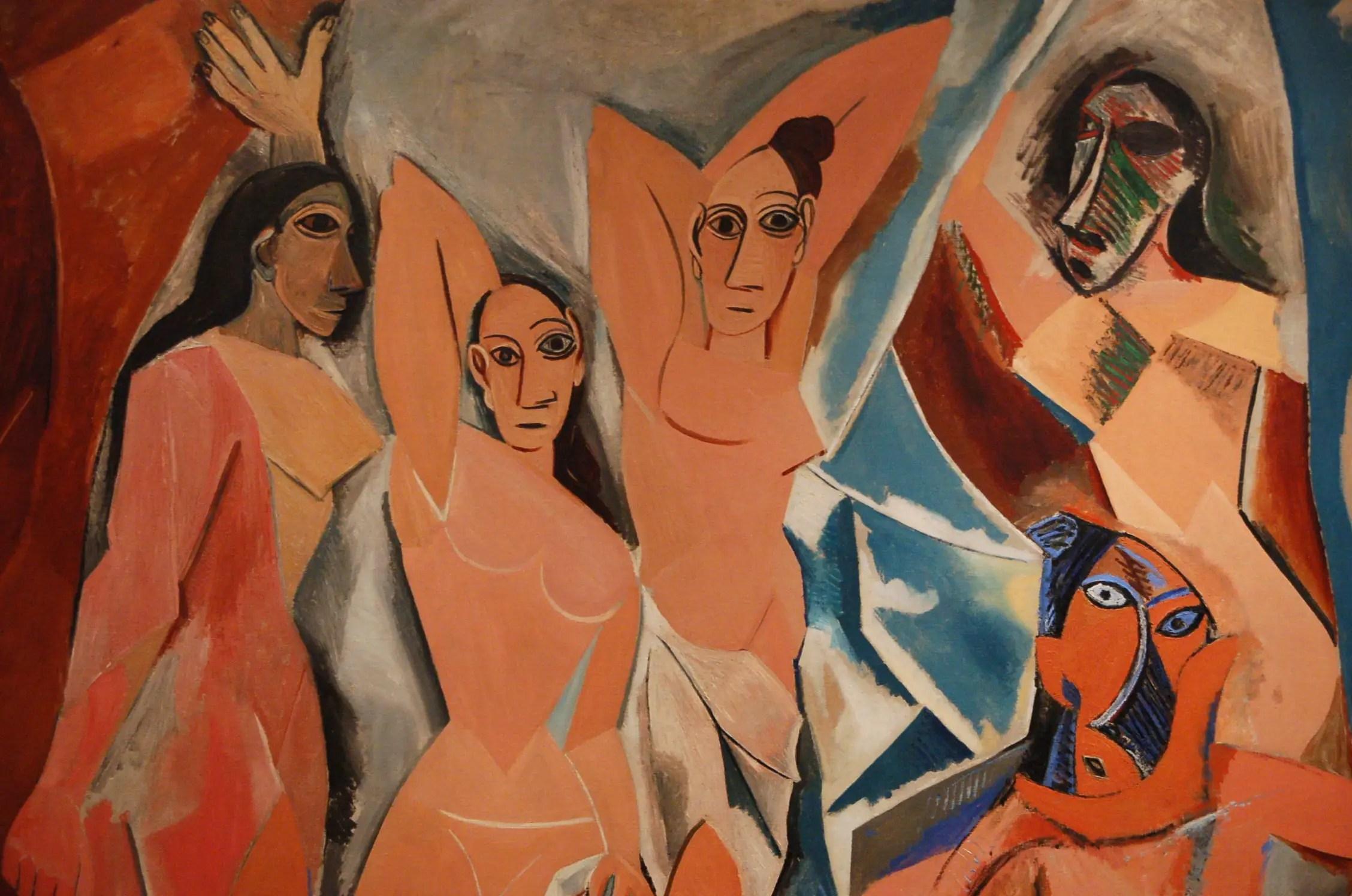 Les Demoiselles d'Avignon de Pablo Picasso au Musée d'Art Moderne de New York City.