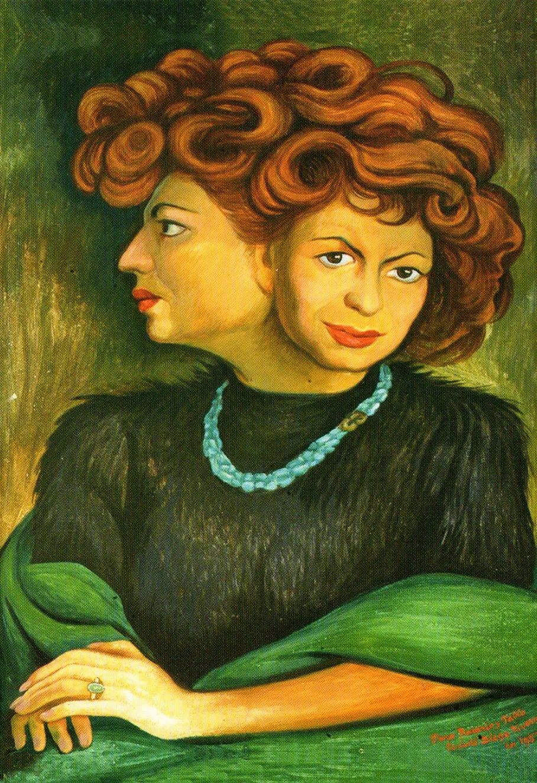 """Matilde"" de Diego Rivera dans la maison ""La Chascona"" de Pablo Neruda à Santiago, au Chili."