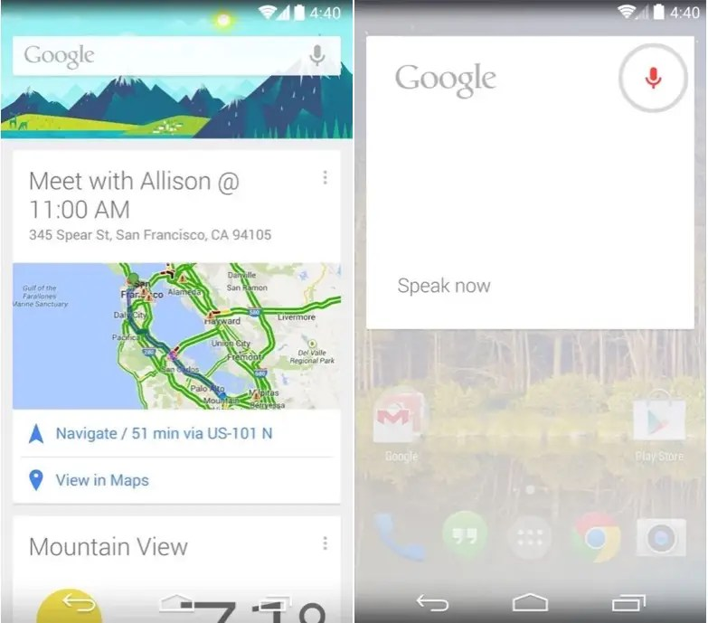 Google Now is a futuristic digital assistant.