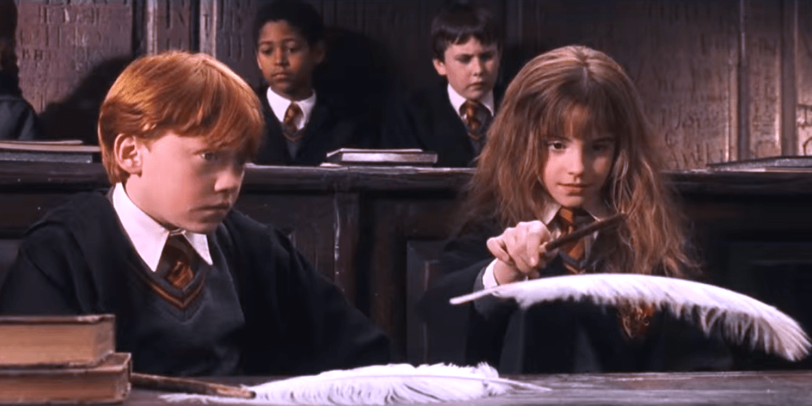 Image result for learning spells in harry potter