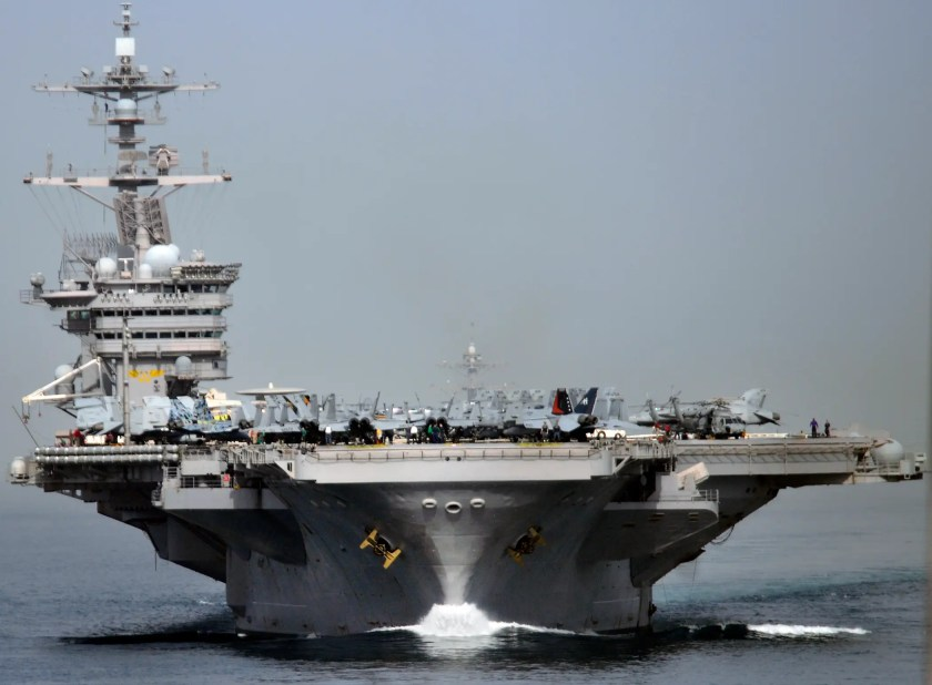 During and immediately after World War II, aircraft carriers continued to increase in size, onboard technology, and capacity.