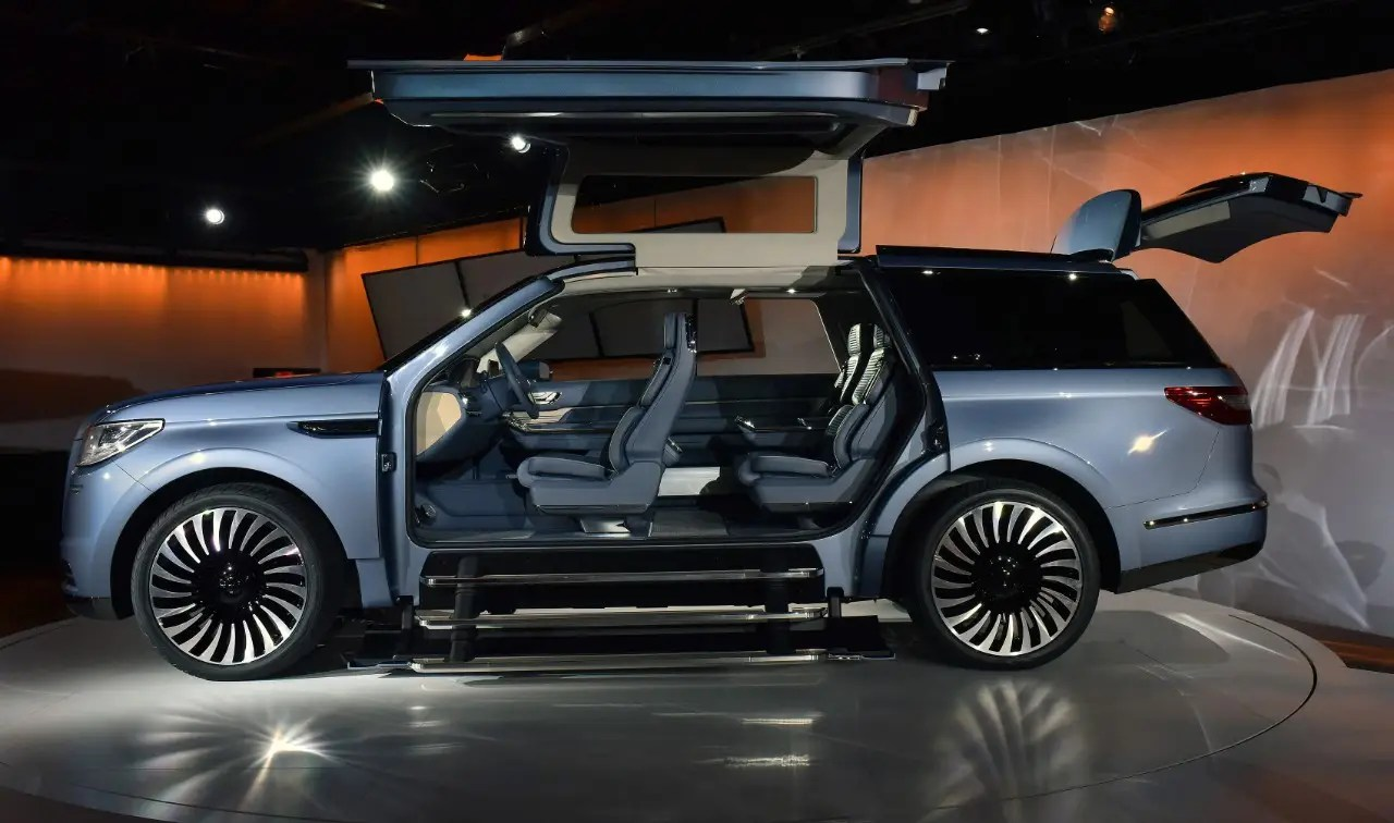 4. The Lincoln Navigator concept car comes with giant gullwing doors. It was unveiled at the New York Auto Show in March.
