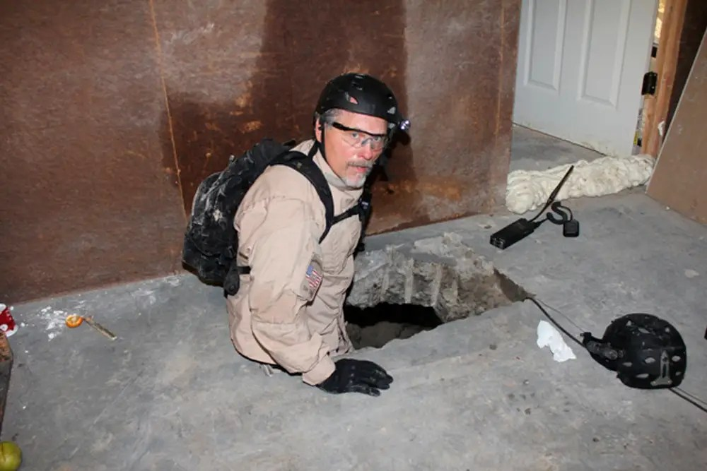 Mexico drug tunnel US agents