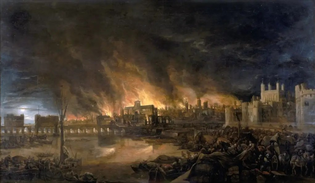 In the 17th century, London suffered from the Great Plague, which killed about 100,000 people. In 1666, the Great Fire broke out — It took the city a decade to rebuild.
