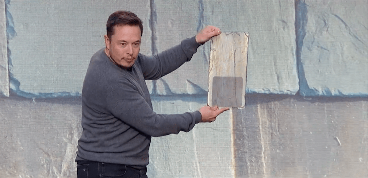 Musk seemed most excited about Tesla's French slate tile offering, saying the style is