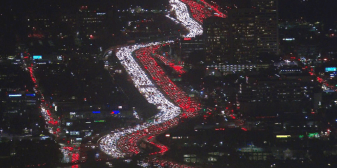Thanksgiving gridlock traffic in Los Angeles