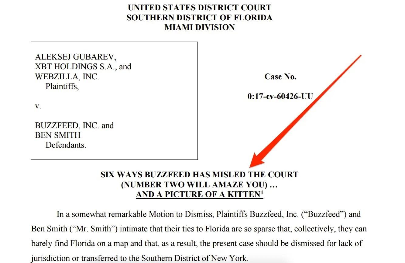 buzzfeed lawsuit