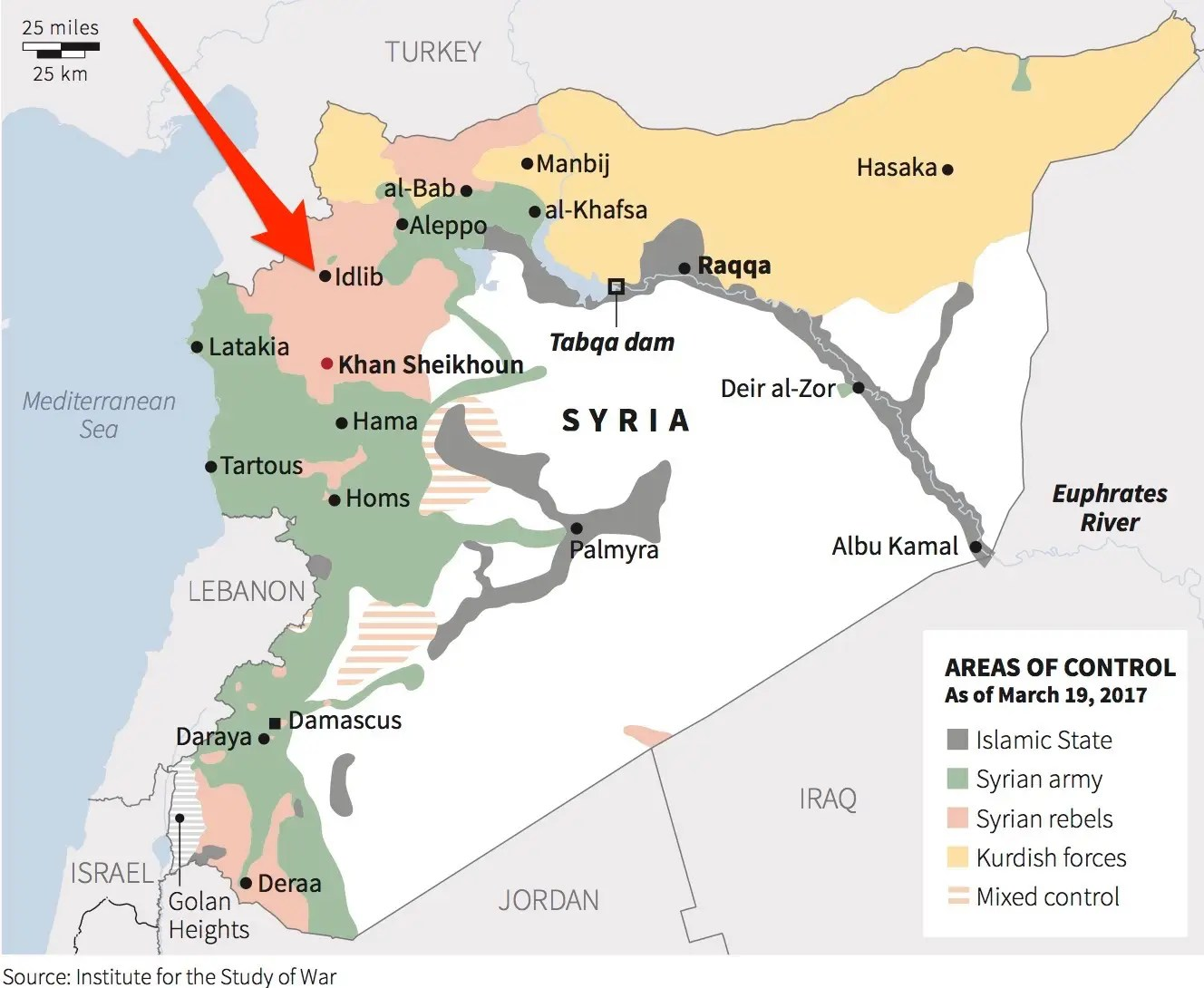 Image result for syrian gas attack april 5, 2017 map idlib syria