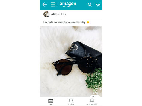 Once you're in Spark, you can scroll through an Instagram-like feed, all inside the Amazon app.