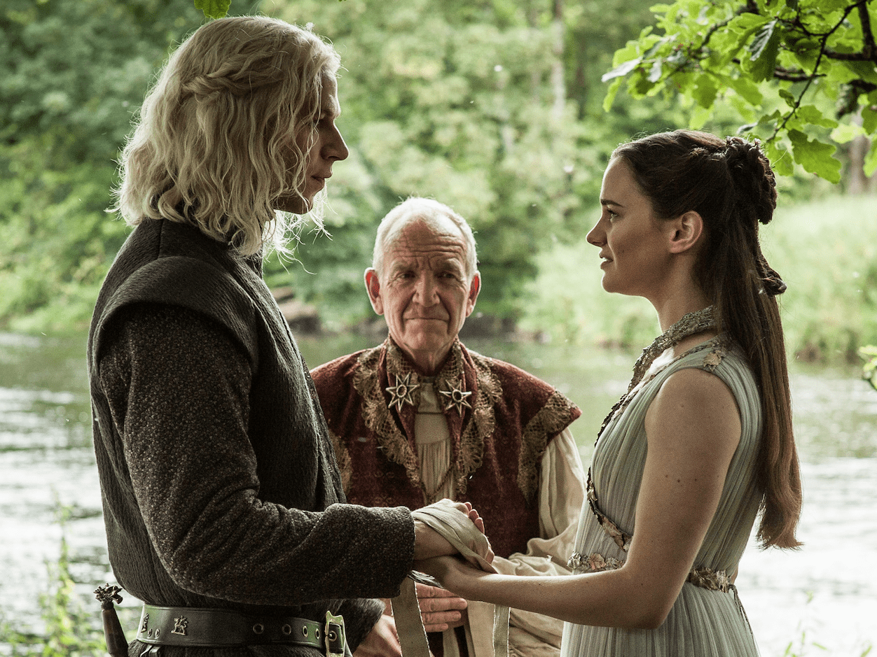 Rhaegar Targaryen and Lyanna Stark wedding Game of Thrones season 7 finale