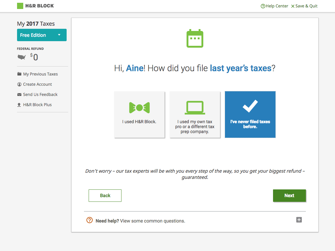 How To Use H Amp R Block To File Your Taxes In