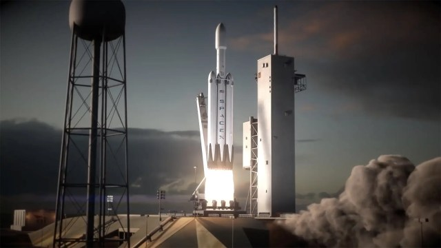 falcon heavy rocket launch pad 39a cape canaveral illustration youtube spacex