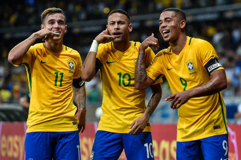 Coutinho, Neymar, and Jesus