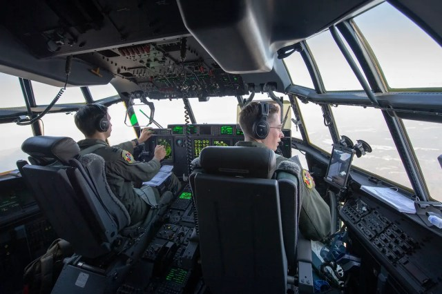 US Air Force C-130J Super Hercules paratrooper Japan Keen Sword